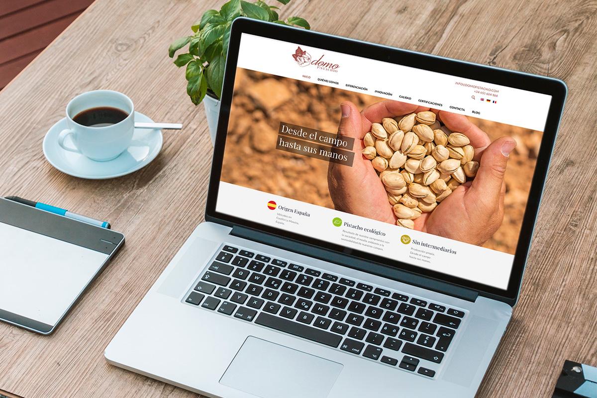 Web corporativa domopistachio.com