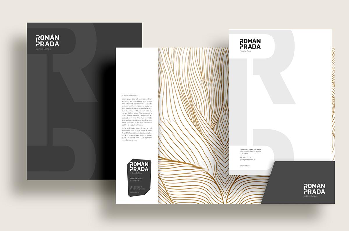 Diseño marca, packaging e imagen corporativa para la marca Román Prada